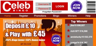 Review of Celeb Bingo's games, bonuses and services