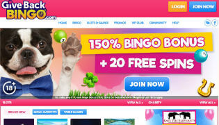 Give Back Bingo's Games and Promotions reviewed