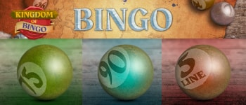 Bingo games and rooms at Kingdom of Bingo
