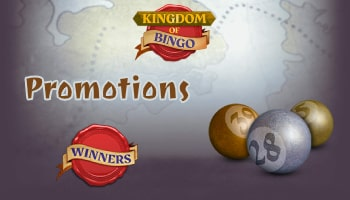 Bonuses and promotions at Kingdom of Bingo
