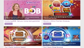 What kinds of promotions are available at Mecca Bingo?