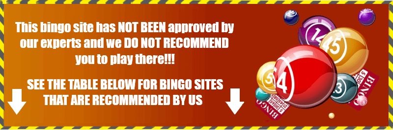 Caution! Not Approved Bingo Site